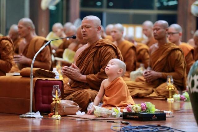 泰国瞌睡萌小沙弥nongkorn竟和泰国新任僧王有如此佛缘