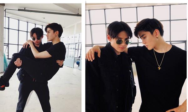 泰国男星mike在中国忙工作,哥哥golf照顾侄儿maxwell获赞